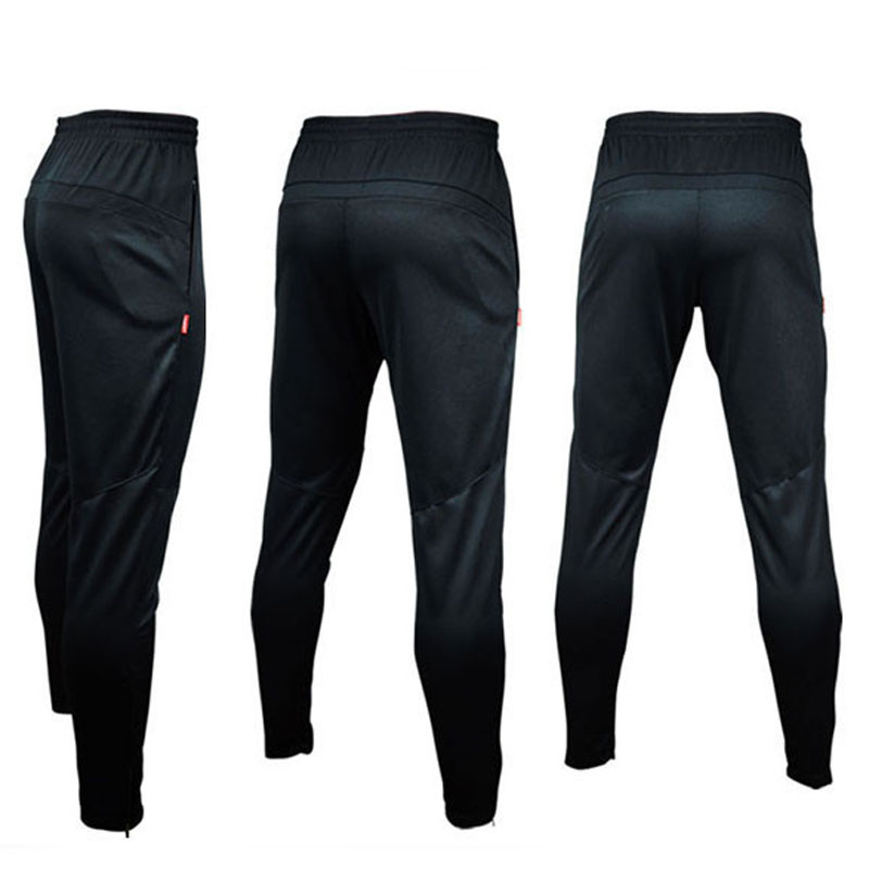NEW 2015 Brand Mens Sportwear Athletic Football Soccer Training Sweat Skinny Pants gym running Casual Trousers Black HOT(China (Mainland))