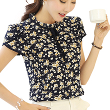 Buy Women Summer Tops Chiffon Blouses Shirts Ladies Floral Print Feminine Blouse Short Sleeve Blusas Femme Plus Size Tops Female for $8.99 in AliExpress store
