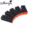 5pcs set Black Nail art Polishing Tool Manicure Buffing Sand Sponge Nail Files Buffer Tools Polish