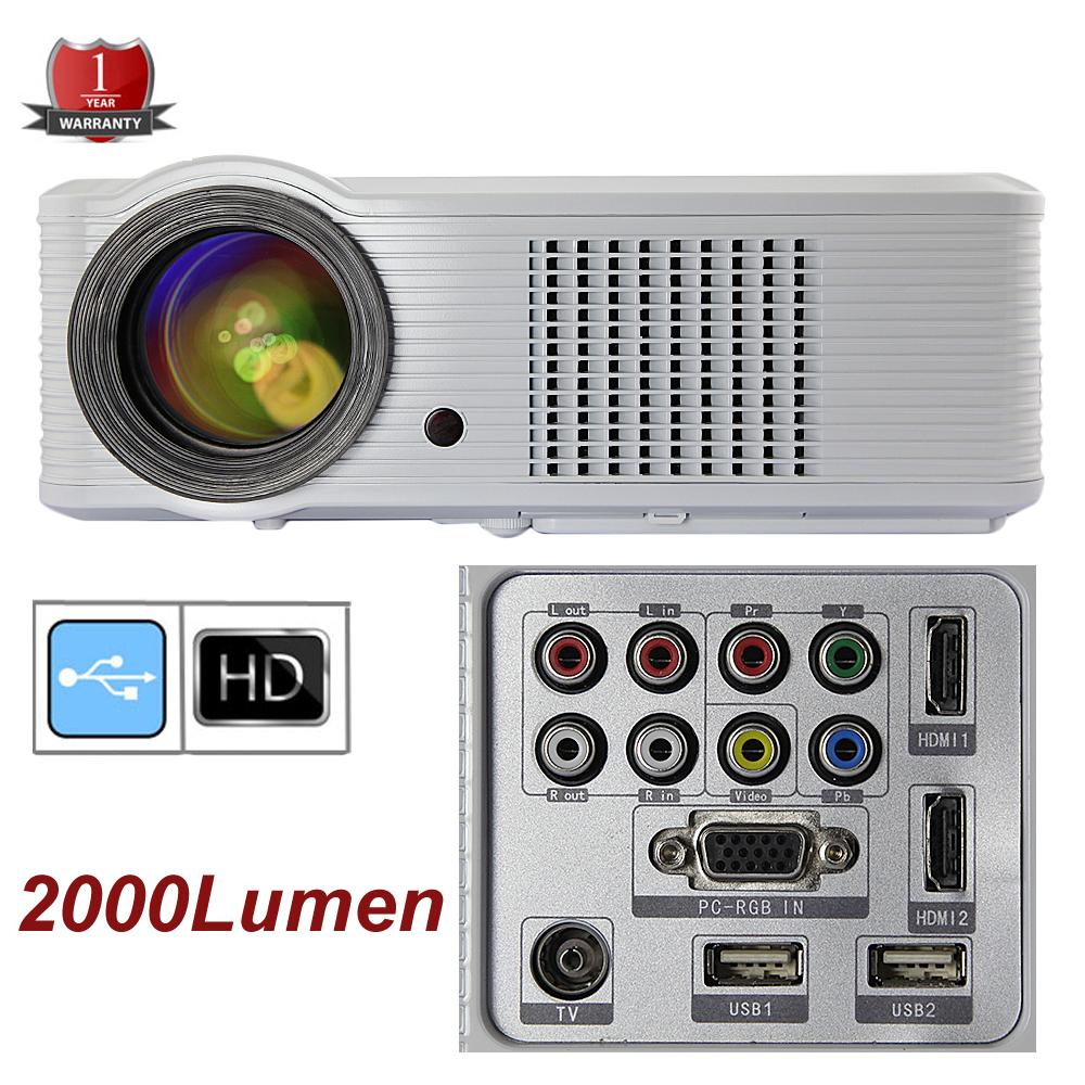 2000 Lumens Full Hd 1080p Led Lcd 3d Vga Hdmi Tv Home: UK Stock Upgraded Version HTP LED 33 HD Projector 2000