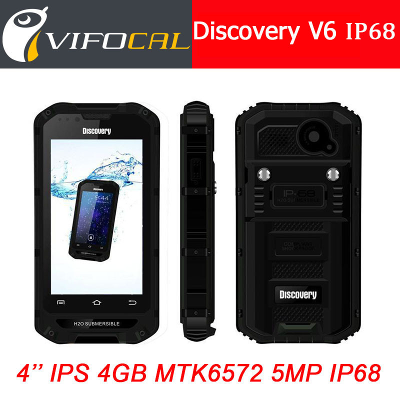 "Original Discovery V6 V6+ IP68 Rugged Phone Waterproof Shockproof Dustproof MTK6572 Dual Core 4.0"" IPS Android 4.2 512MB 4GB GPS(China (Mainland))"