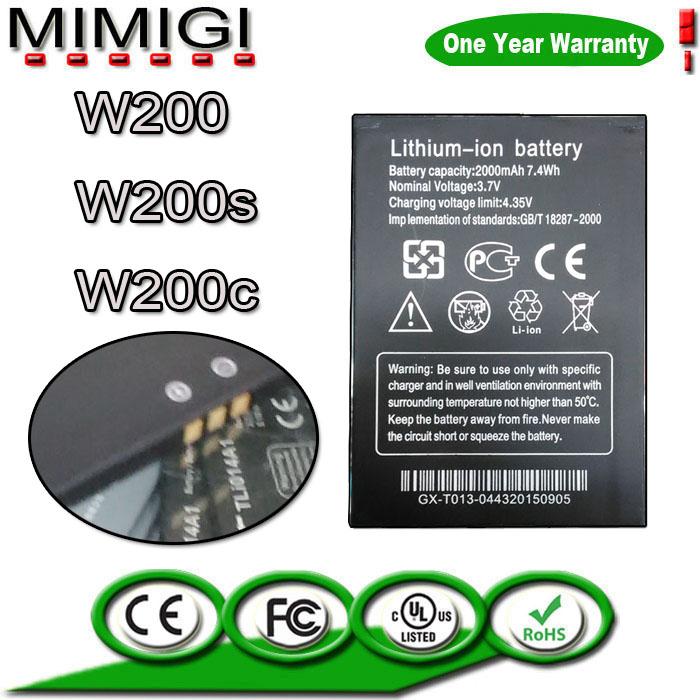 1Original 2000mAh Rechargeable Li-ion Battery THL W200 W200s W200c ACCU AKKU Bateria PIL Accumulator +