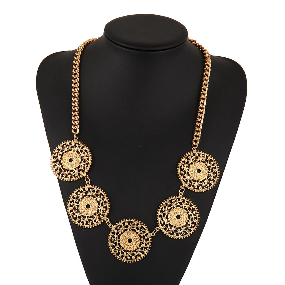 2016 Fashion wholesale necklace fine Jewellery gold Tassel Vintage bohemian Ethnic Choker power maxi Statement Necklaces Women(China (Mainland))