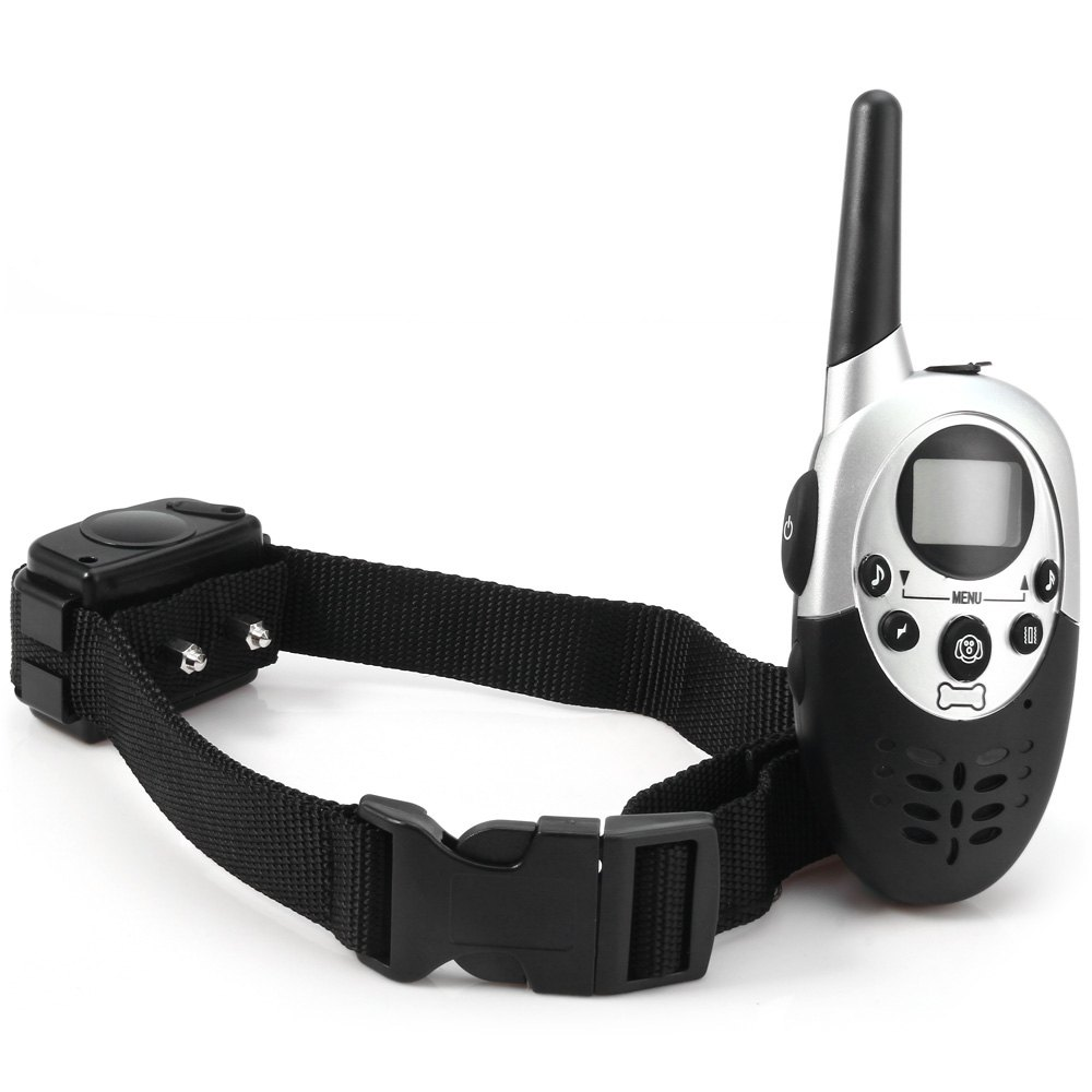 Fetoo 1000m dog remote training collar Waterproof Rechargeable LCD Remote Pet Dog Electric Shock Large Dog Control P90(China (Mainland))