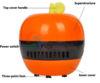 New Apple Shape 1pcs/lot Battery Powered Mini Desktop Vacuum Cleaner