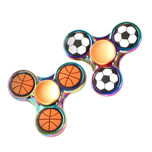 Buy 1pc lot Basketball Football Rainbow EDC Tri Spiner Toys Hand Spinner Metal Fidget Spinner ADHD Adult Stress Relief Toys Action for $4.99 in AliExpress store