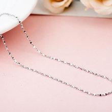 ELESHE Ołowiu i Niklu 45 cm Długi Naszyjnik Moda Biżuteria 925 Sterling Silver Chain Naszyjnik dla Kobiet Zaręczyny Ślub(China)
