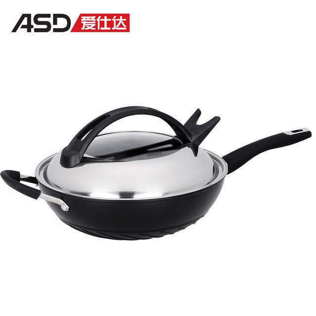 New arrival kumgang none 32cm smoke cookware wok lzl8332