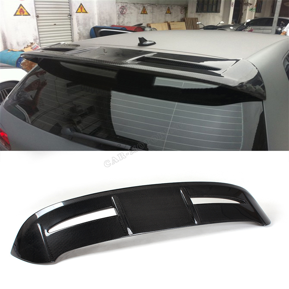 Buy mk6 rs style carbon fiber rear wing spoiler auto car for Wing motors automobiles miami fl