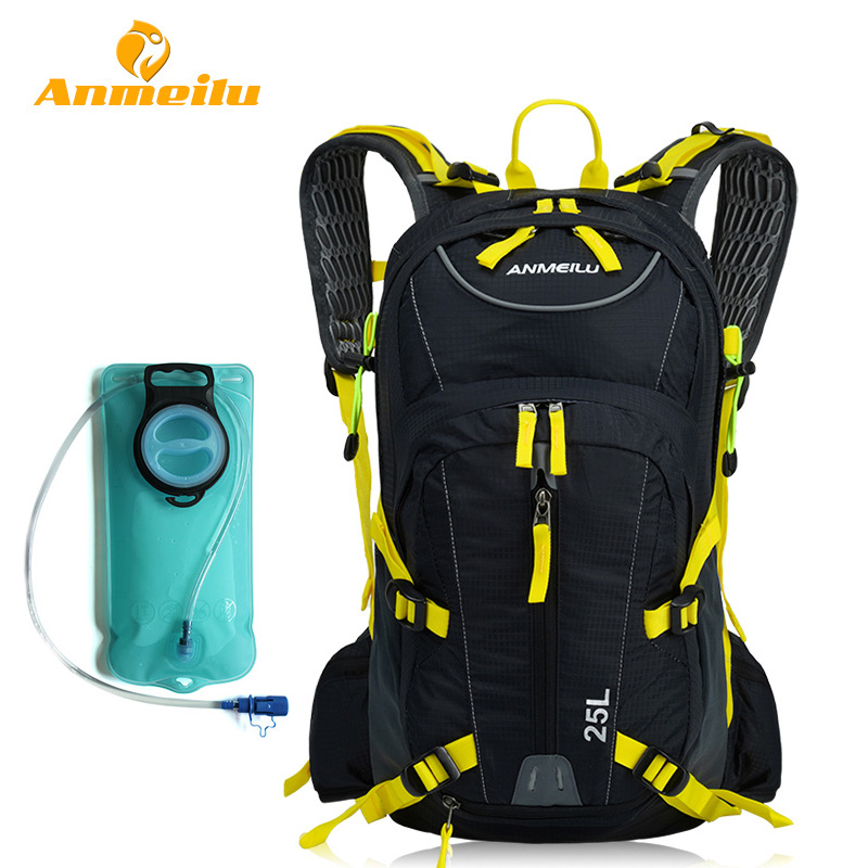 ANMEILU 25L <font><b>Climbing</b></font> <font><b>Bag</b></font> Rucksack Waterproof Outdoor Cycling Camping Sports Backpack Mens Travel <font><b>Bags</b></font> + Water <font><b>Bag</b></font> And Rain Cover