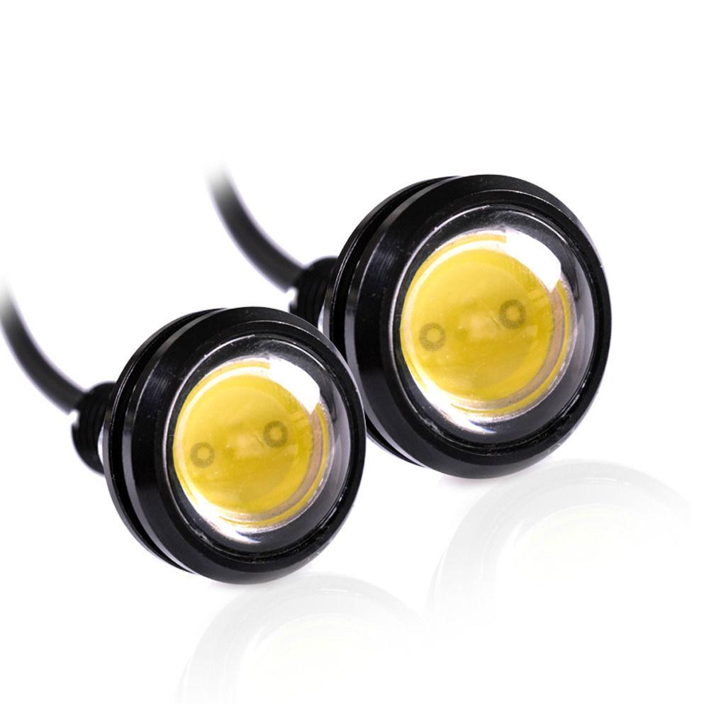 Car styling 18mm White Eagle Eye Daytime Running Light LED Car Lights DRL Lamp Daytime Light Waterpr