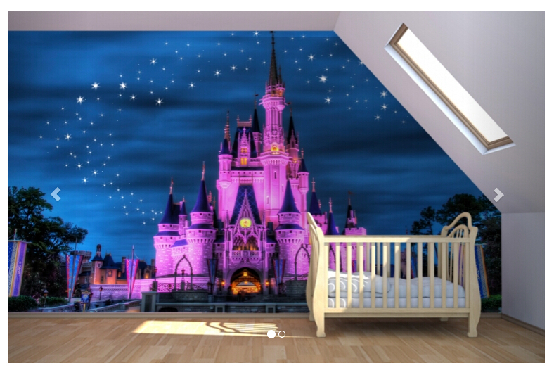 Buy fairytale castle mural wallpaper for for Castle mural kids room