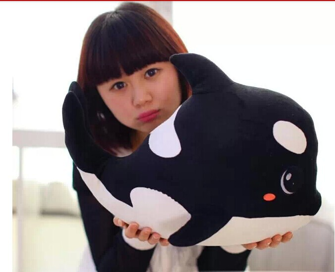 big lovely plush dolphin toy black stuffed dolphin high quality whale doll birthday gift toy about 70x50cm<br><br>Aliexpress