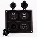 Digital Voltmeter With Dual USB Car Chargers Waterproof Cigarette Lighter Socket Power Adapter Port Outlet RV
