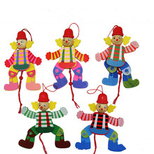 2016 New Funny Toy Pull String Puppet  Wooden Marionette Toy Joint Activity Doll Vintage (China (Mainland))