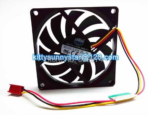 Cooler Master 8010 A8010-27CB-3AN-F1 DF0801012SELN 12V 0.2A 3Wire Cooling Fan(China (Mainland))