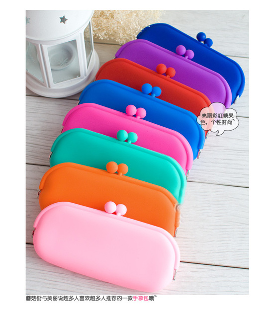 Rubber Silicone Pouch Purse Wallet Glasses Cellphone Cosmetic Coin Bag Case   CDG-B003-7-8(g200-C)