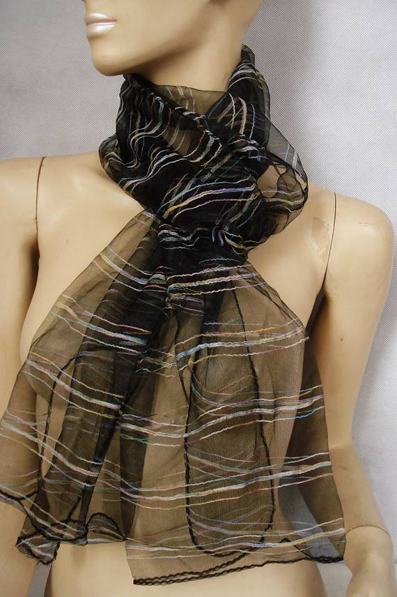 lot 1fashion women style nylon solid color thick yarn long scarf - Kenshzheng store