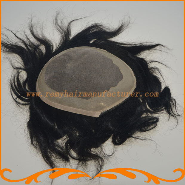 2015 New arrival ,base is mono+NPU,mens wig hot sale 100% remy hair,bleached knots, TOUPEE,mens wigs FREE SHIPPING,DHL(China (Mainland))
