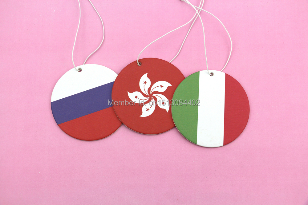 Goodadv brand original design various personality perfume for option a series of flag paper air freshener order free shipping(China (Mainland))
