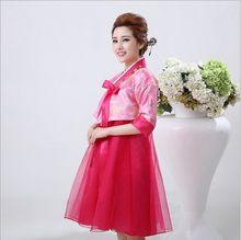 קיץ 6 צבע אלגנטי אישה מסורתי קוריאני נשי בגדי ביצועי תלבושות ריקוד מיעוט Hanbok שמלת Pincess משפט(China)