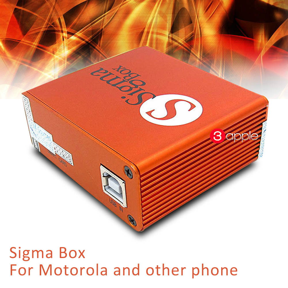 New Original Sigma Box mobile phone unlock Box and repair tool +9 cables china mobile software box for Motorola and other phone(China (Mainland))