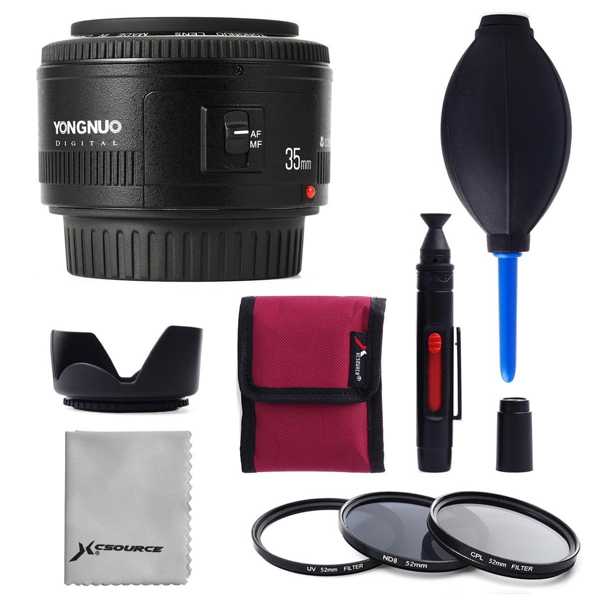 Вспышка yongnuo объективов EF 35 мм f/2 широкоугольный объектив + 52мм набор фильтров для Canon EOS камеры LF711