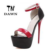Ultra High Heels Women T-Stage Stilettos Personality High Heel Open Toe Sandals Party Wedding Shoes Ultra High Platform Heels
