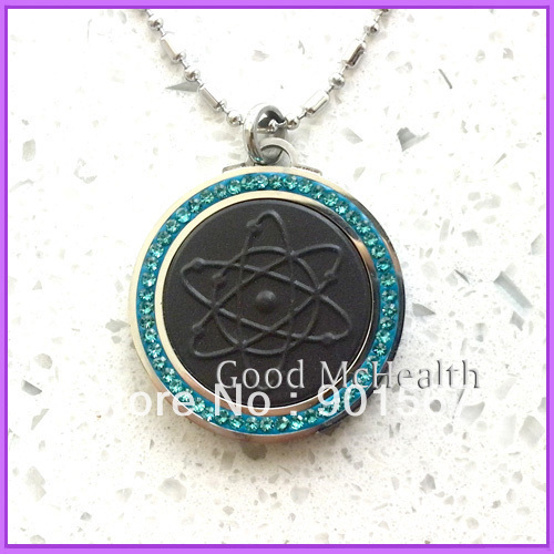 -=< Retail >=- Quantum Scalar Energy Pendant with Stainless Steel Chain Turquoise & Blue Color Health Pendant Free Shipping