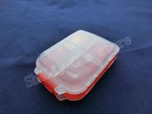 Blanco rojo 3 capas 8 compartimentos componentes electrónicos caja