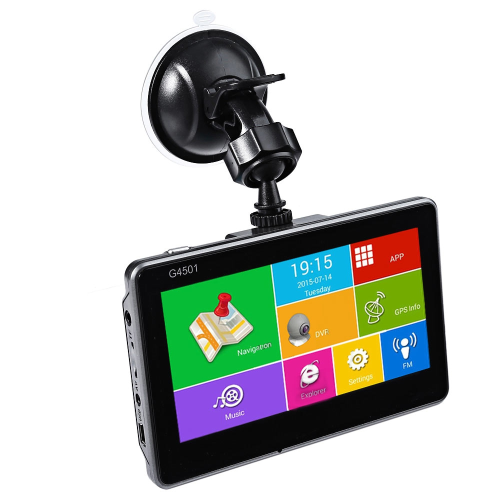 New 4.5 Inch Android Tablet GPS Navigation Android 4.4.2 MTK8127 Bluetooth WiFi FM Player HD 1080P IPS Screen Car DVR Recorder(China (Mainland))