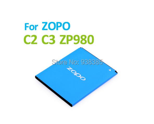 2pcs Original mobile phone battery for ZOPO C2 C3 ZP980 Battery 2000mAh BT78S Lithium Ion Batteries