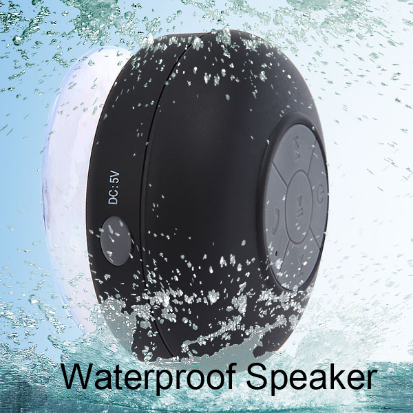 Portable Waterproof Wireless Bluetooth Speaker Shower Car Handsfree Receive Call & Music Suction Phone Mic for iPhone 5s 6 Plus(China (Mainland))
