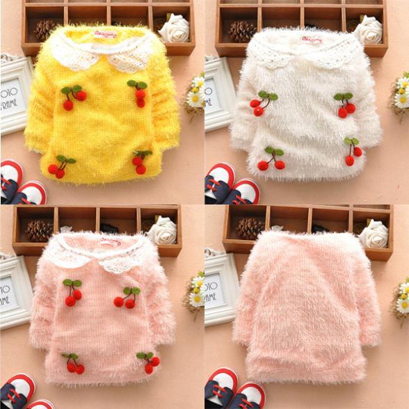 Toddler Kids Girls Long Sleeve Basic TEE Shirt Tops Sweater Pullover SZ 1-5T(China (Mainland))
