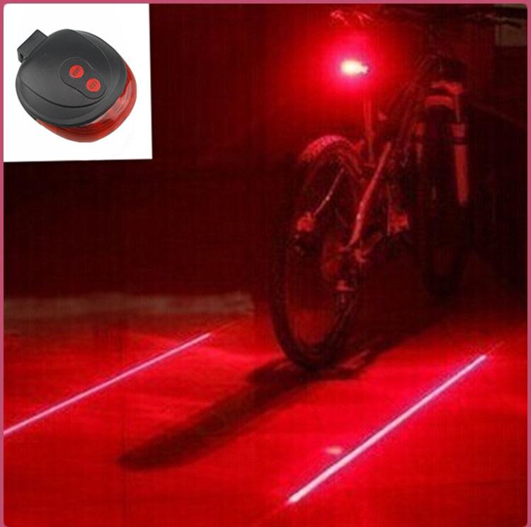 (5LED+2Laser) 7 flash mode Cycling Safety Bicycle Rear Lamp, waterproof Bike Laser Tail Light Warning Lamp Flashing