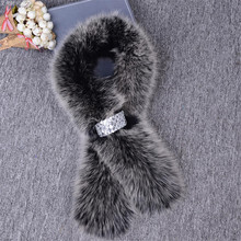 New arrival Luxury warm Winter women fur scarf real fox fur scarves warm neck fur collar shawl brand new fur Fashion Accessories
