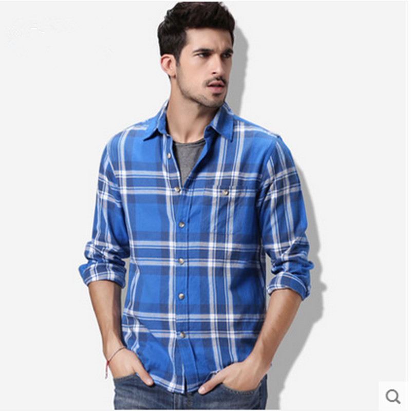 Imported clothing men shirt flannel emerizing long sleeve for Buy plaid shirts online