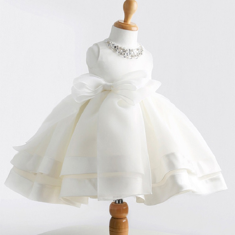 High Quality white elegant flower girls dresses for