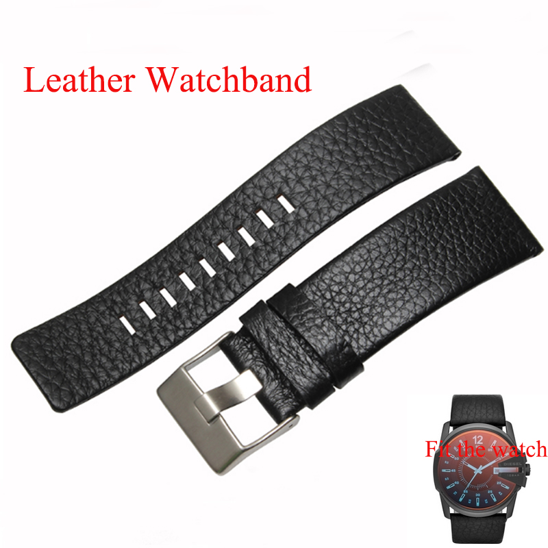 22mm 24mm 26mm 28mm 30mm Mens Watch Band Black Brown Leather Strap Litchi grain fashion Stainless Steel Buckle fit DZ1116<br><br>Aliexpress