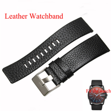 22mm 24mm 26mm 28mm 30mm Mens Watch Band Black Brown Leather Strap Litchi grain fashion Stainless Steel Buckle fit DZ1116