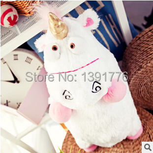 Despicable Me 1pcs 40cm/15.7inch Despicable Me Fluffy Unicorn Plush Pillow Toy Doll cute Fluffy figure gift(China (Mainland))