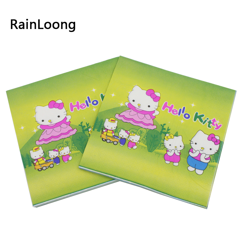 Rainloong Hello Kitty Paper Napkin With Ball Festive