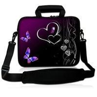 Purple  10Laptop Carrying Bag Sleeve Case Cover w/Side Pocket +Shoulder Strap For 9.7 -10.2 Laptop Tablet PC<br><br>Aliexpress