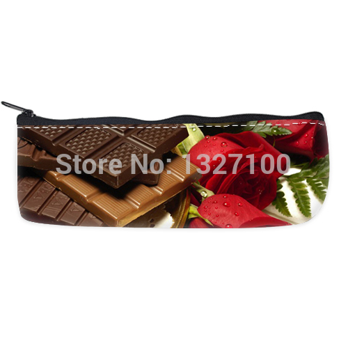 wholesale Chocolate and rose Custom Pencil Case Bag college of the wind(China (Mainland))