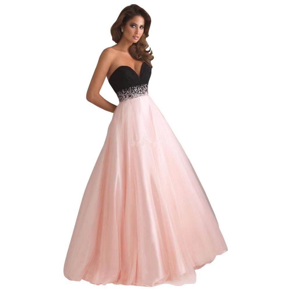 Strapless Hot Pink Dress