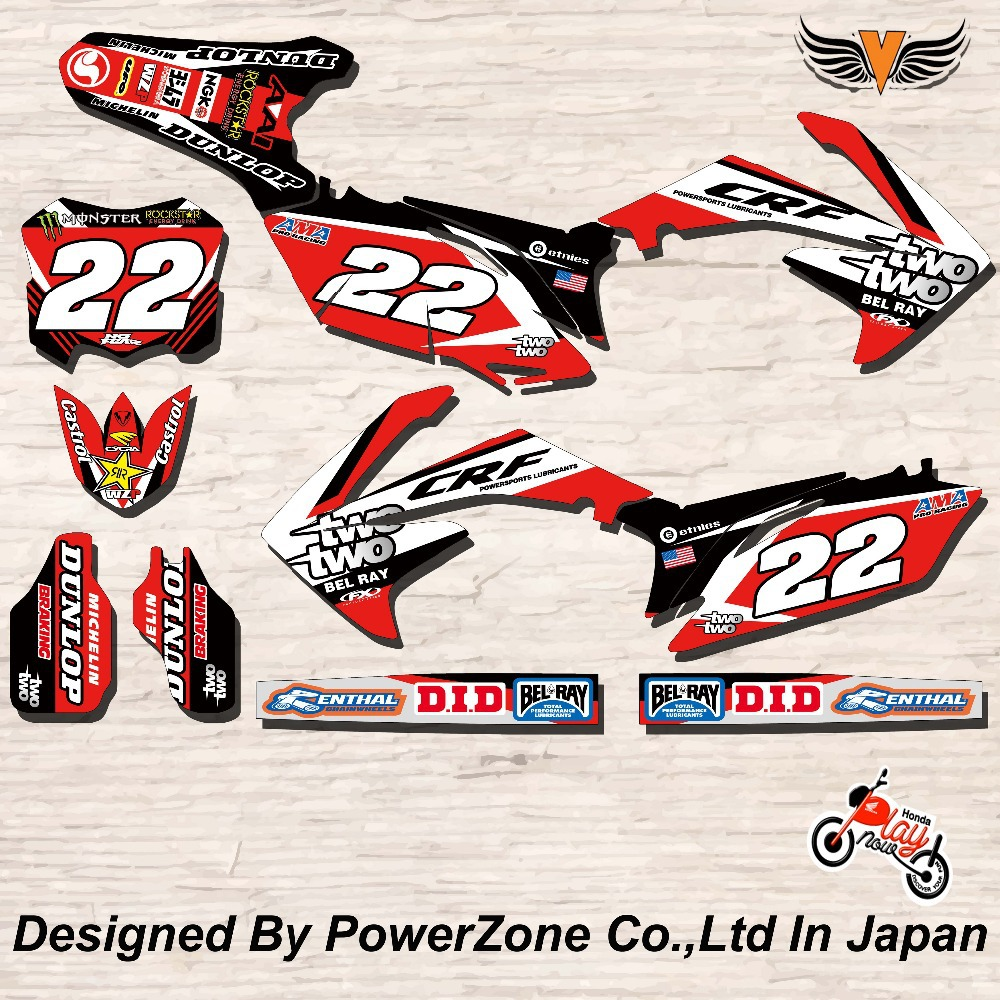 CRF XR CRM 125 250 450 650 Team Graphics Backgrounds Decals Stickers Star Motorcross Motorcylce Dirt Bike MX Racing Parts