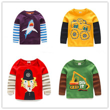 New arrival  Boys T-shirt Kids Tees Baby Boy brand tshirts children clothing child clothes spring autumn long sleeves