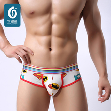 Sexy Mens Underwears Briefs Cotton Men Underwear U-Convex Male Cuecas Low Waist Shorts Hombre Lovely Man Cartoon Bulge Trunks(China (Mainland))