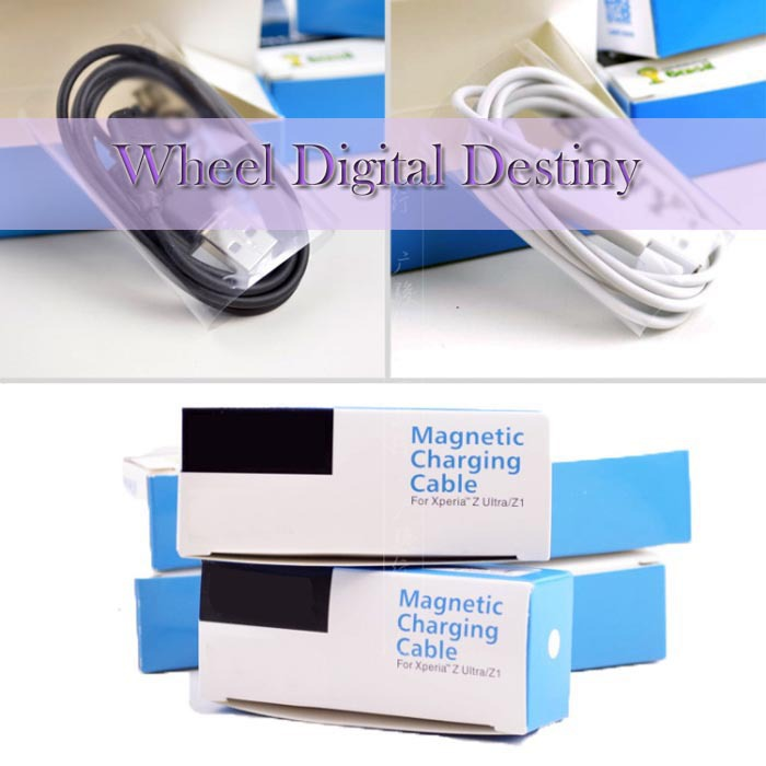 SONY original whit LOGO magnetic cable Charger Xperia Z1 Z2 Z3 Compact XL39H L39H M55W M51W C6902 C6082 D6653 - Wheel Digital Destiny store