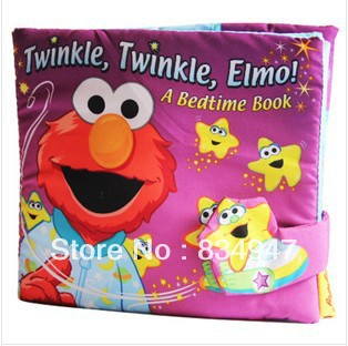 USA softplay Baby's Early Development Toys Sesame street elmo ai good night stereo cloth book, - Baby Corner Store store